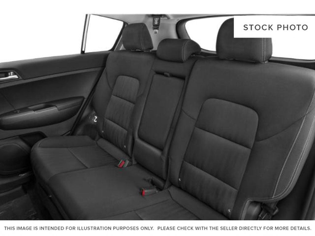 Black[Black Cherry] 2021 Kia Sportage Left Side Rear Seat  Photo in Lethbridge AB