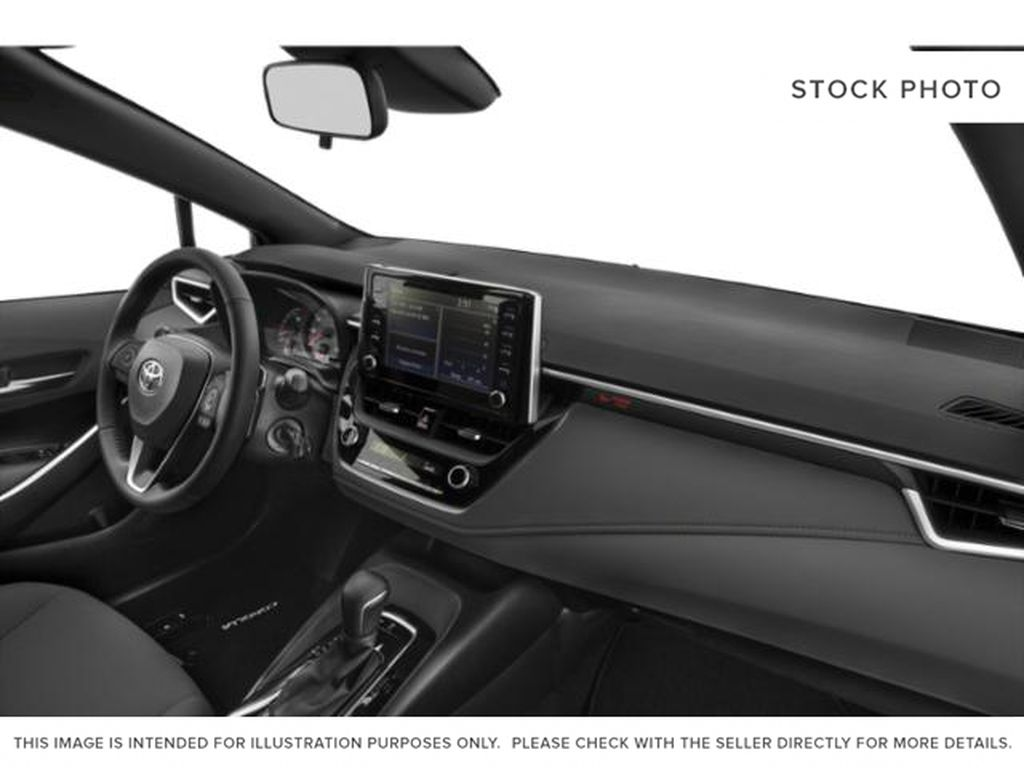 Red[Ruby Flare Pearl] 2022 Toyota Corolla Steering Wheel and Dash Photo in Brockville ON