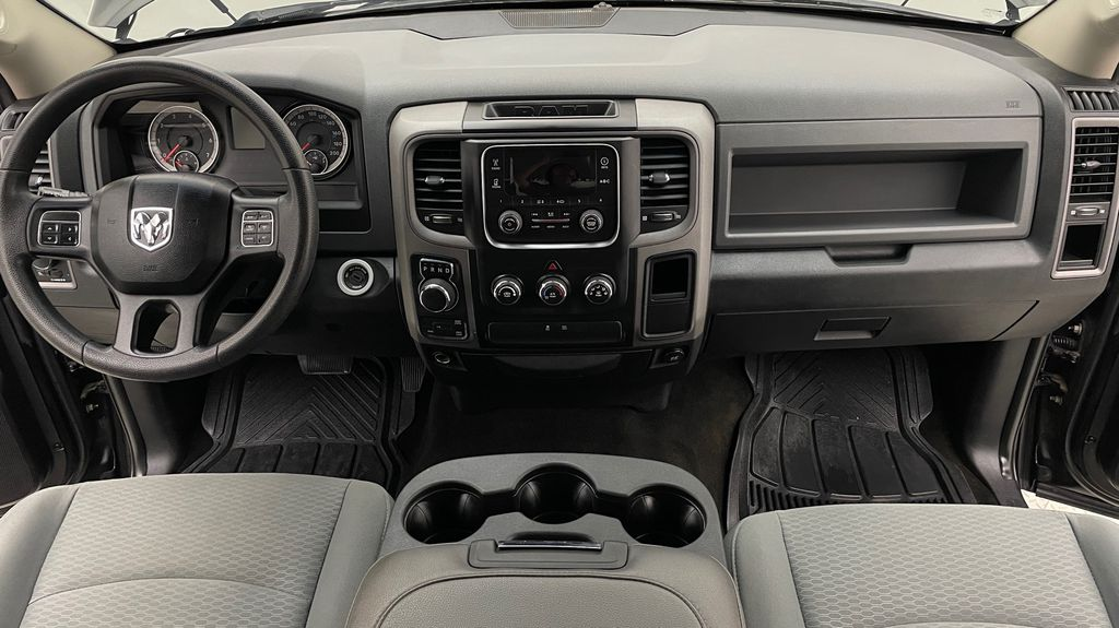 Green[Black Forest Green Pearl] 2016 Ram 1500 SXT 4WD - Crew Cab, 8 Speed Transmission, 3.6L V6 Central Dash Options Photo in Winnipeg MB