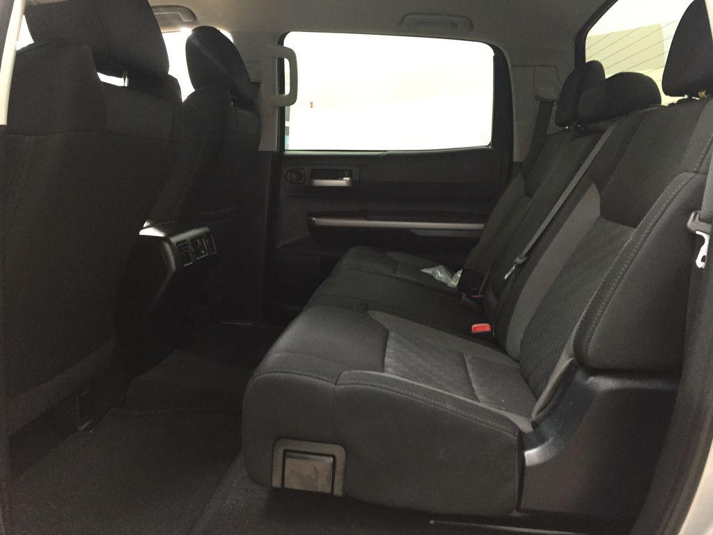 Silver[Silver Sky Metallic] 2017 Toyota Tundra CREWMAX 5.7L SR5 Left Side Rear Seat  Photo in Sherwood Park AB