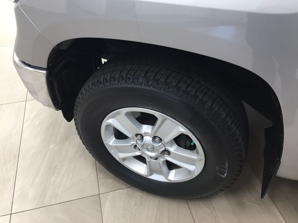 Silver[Silver Sky Metallic] 2017 Toyota Tundra CREWMAX 5.7L SR5 Left Front Rim and Tire Photo in Sherwood Park AB