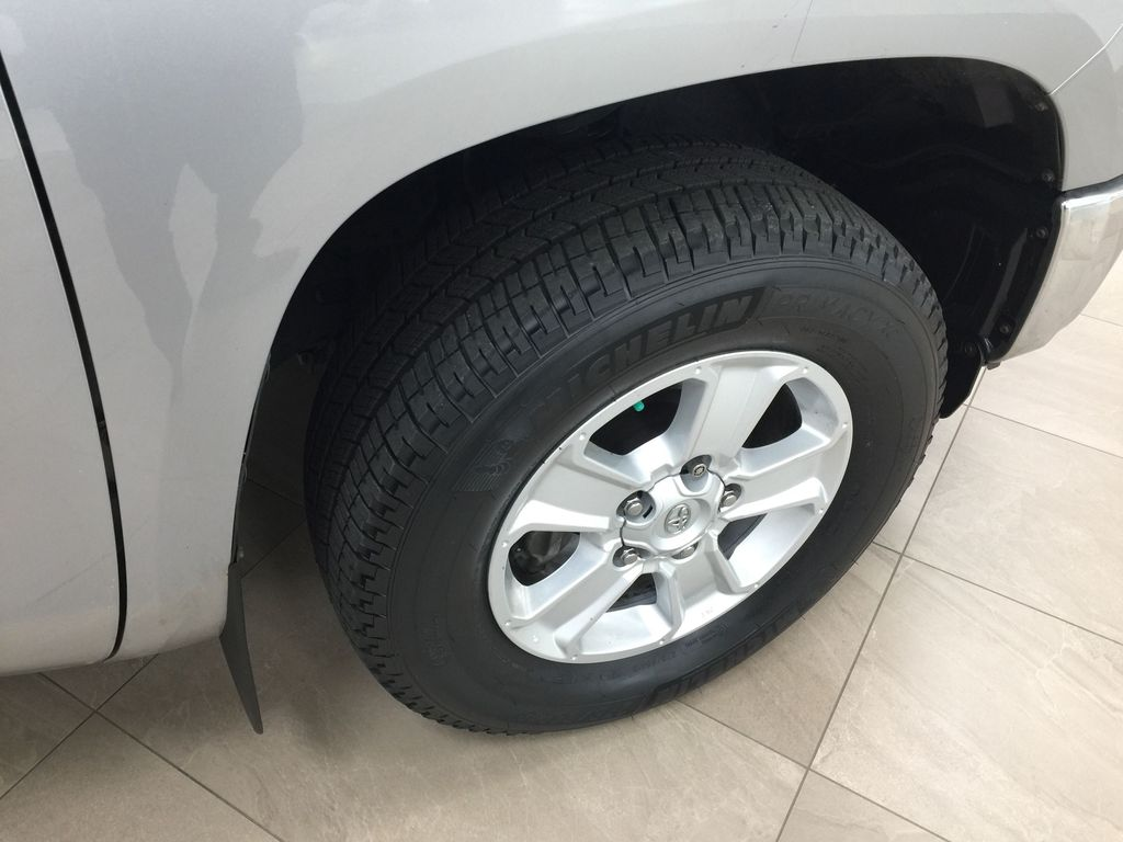 Silver[Silver Sky Metallic] 2017 Toyota Tundra CREWMAX 5.7L SR5 Right Front Rim and Tire Photo in Sherwood Park AB