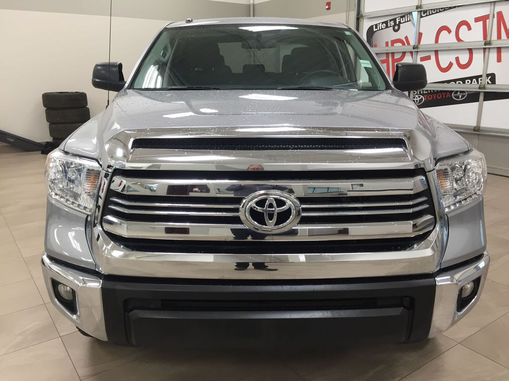 Silver[Silver Sky Metallic] 2017 Toyota Tundra CREWMAX 5.7L SR5 Front Vehicle Photo in Sherwood Park AB