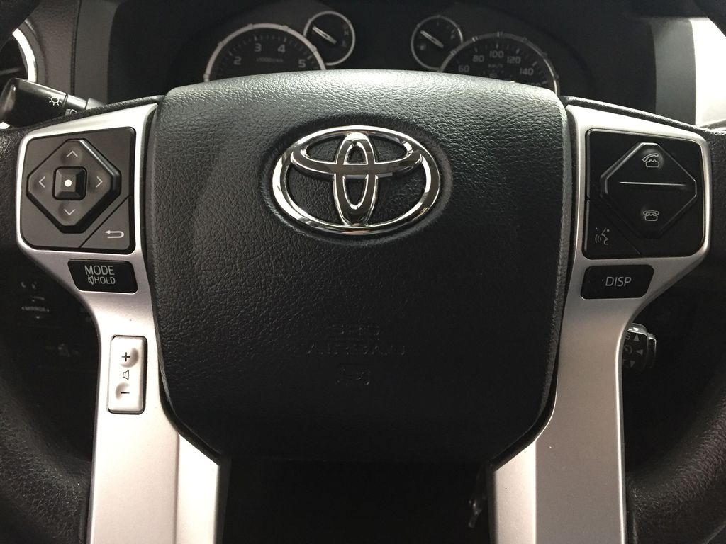 Silver[Silver Sky Metallic] 2017 Toyota Tundra CREWMAX 5.7L SR5 Steering Wheel and Dash Photo in Sherwood Park AB