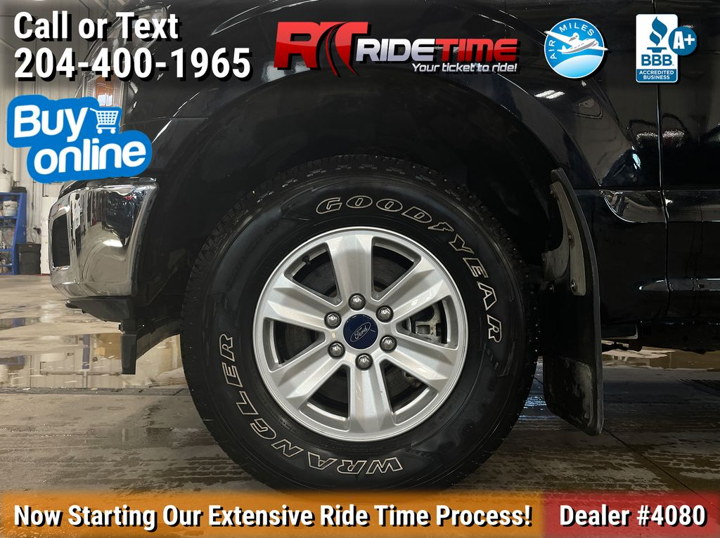 Black[Shadow Black] 2018 Ford F-150 XLT 4WD - SuperCrew, V6 Left Front Rim and Tire Photo in Winnipeg MB