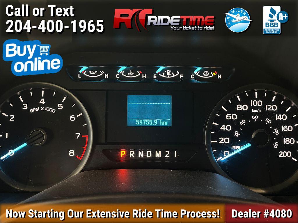 Black[Shadow Black] 2018 Ford F-150 XLT 4WD - SuperCrew, V6 Odometer Photo in Winnipeg MB