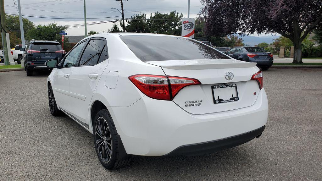 White[Alpine White] 2016 Toyota Corolla Left Rear Corner Photo in Kelowna BC