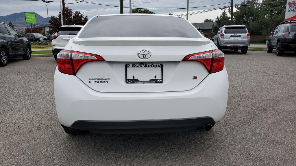 White[Alpine White] 2016 Toyota Corolla Rear of Vehicle Photo in Kelowna BC
