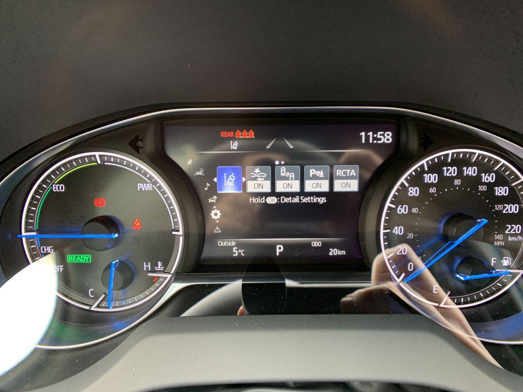 White[Blizzard Pearl] 2021 Toyota Venza XLE Package AVENBC AA Navigation Screen Closeup Photo in Brampton ON