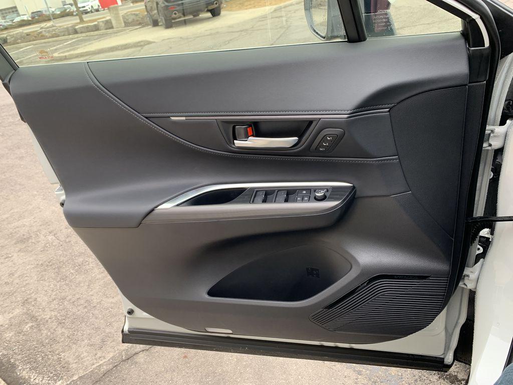 White[Blizzard Pearl] 2021 Toyota Venza XLE Package AVENBC AA Left Rear Interior Door Panel Photo in Brampton ON