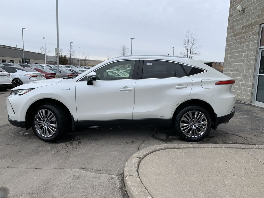 White[Blizzard Pearl] 2021 Toyota Venza XLE Package AVENBC AA Left Front Rim and Tire Photo in Brampton ON