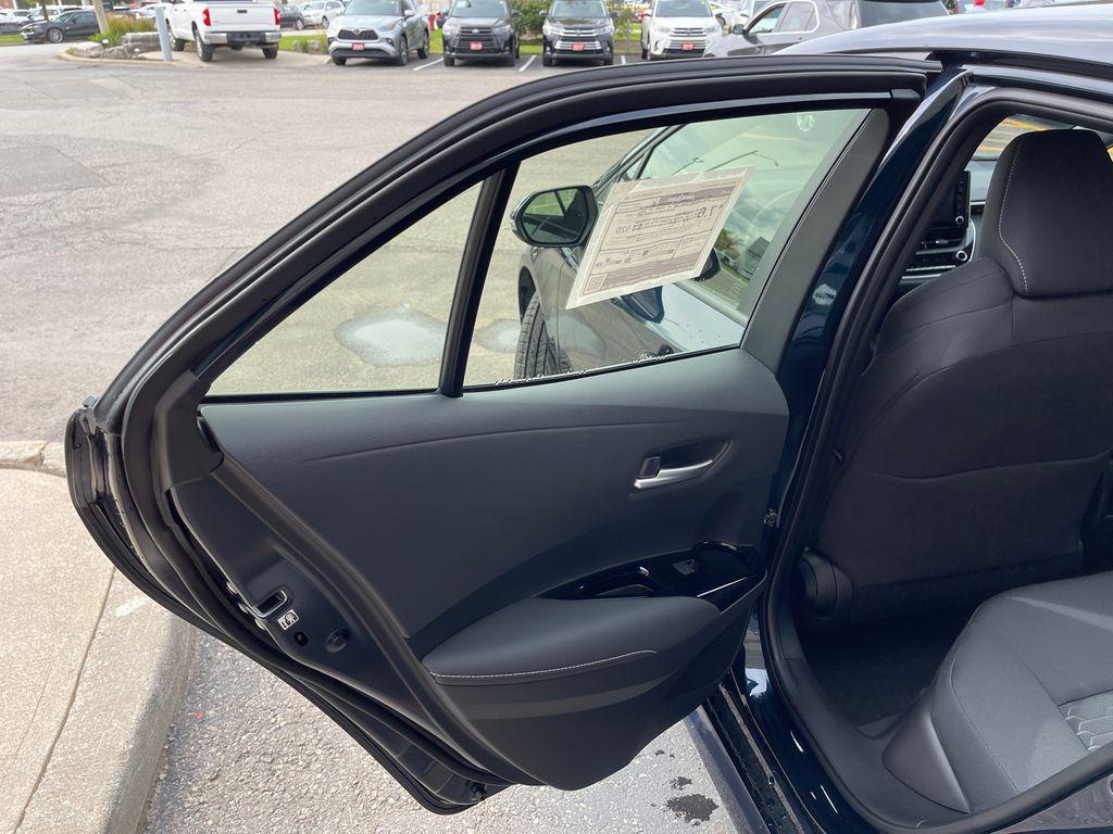 Blue[Galactic Aqua Mica] 2022 Toyota Corolla Hatchback Standard Package K4RBEC AM Left Side Rear Seat  Photo in Brampton ON