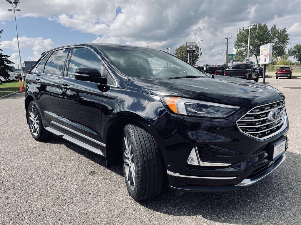 Black[Agate Black] 2019 Ford Edge Left Front Interior Door Panel Photo in Brandon MB