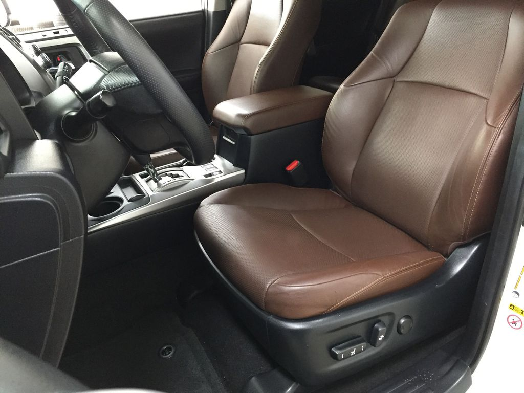 White[Blizzard Pearl] 2019 Toyota 4Runner Limited Left Front Interior Photo in Sherwood Park AB