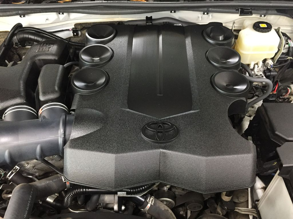 White[Blizzard Pearl] 2019 Toyota 4Runner Limited Engine Compartment Photo in Sherwood Park AB