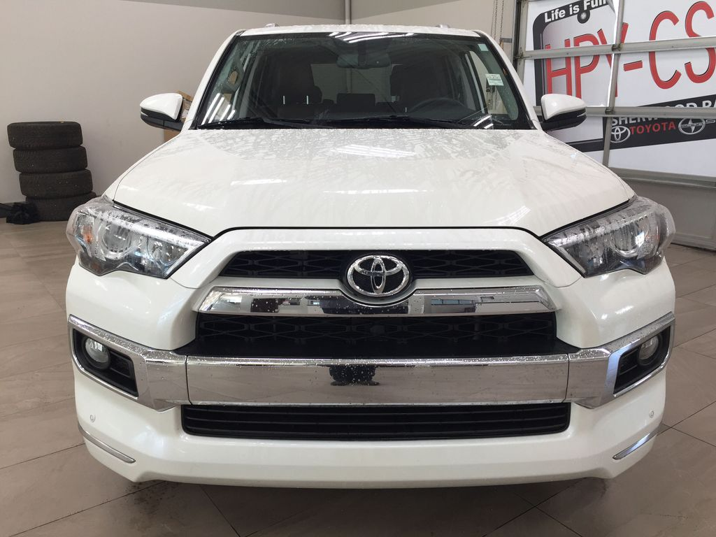 White[Blizzard Pearl] 2019 Toyota 4Runner Limited Front Vehicle Photo in Sherwood Park AB