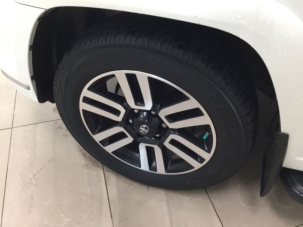 White[Blizzard Pearl] 2019 Toyota 4Runner Limited Left Front Rim and Tire Photo in Sherwood Park AB