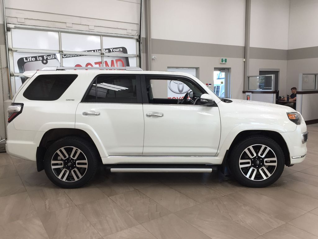 White[Blizzard Pearl] 2019 Toyota 4Runner Limited Right Side Photo in Sherwood Park AB