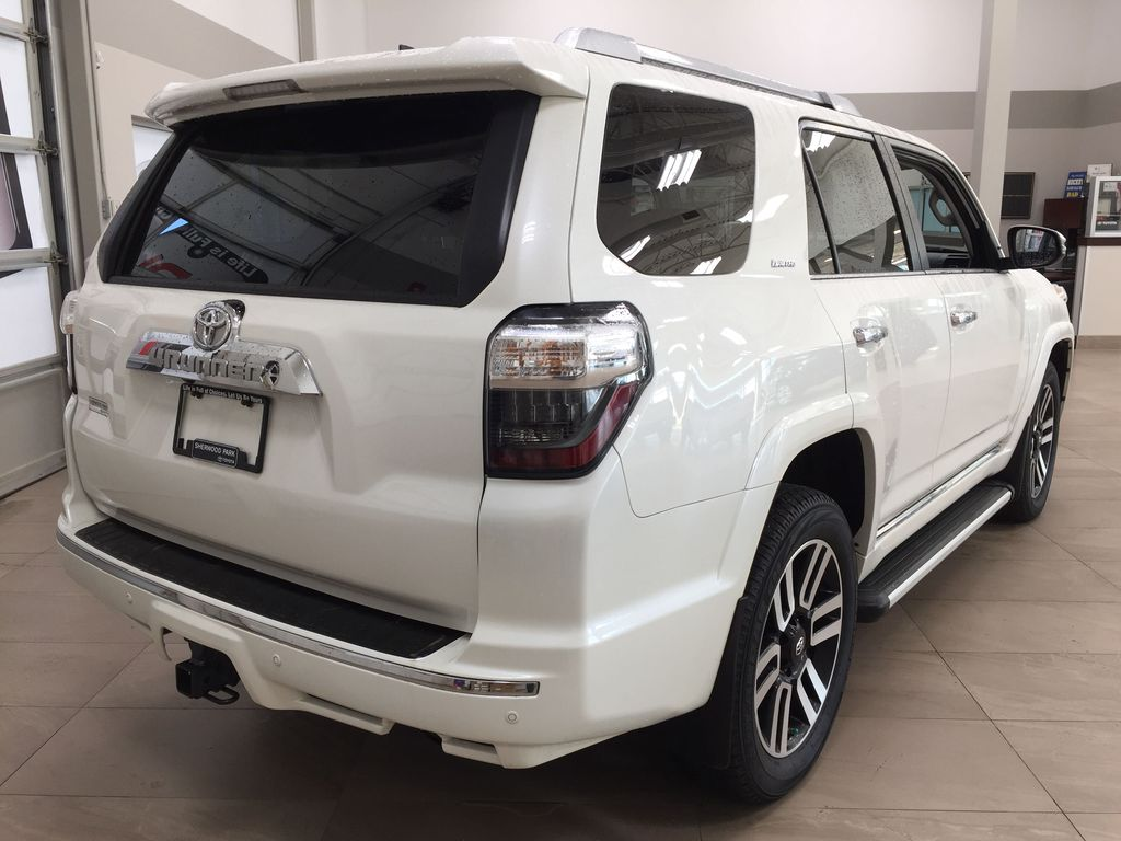White[Blizzard Pearl] 2019 Toyota 4Runner Limited Right Rear Corner Photo in Sherwood Park AB