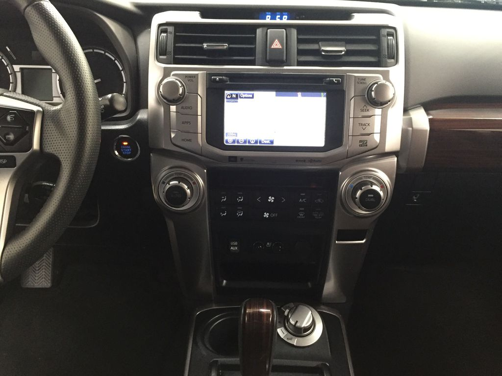 White[Blizzard Pearl] 2019 Toyota 4Runner Limited Central Dash Options Photo in Sherwood Park AB
