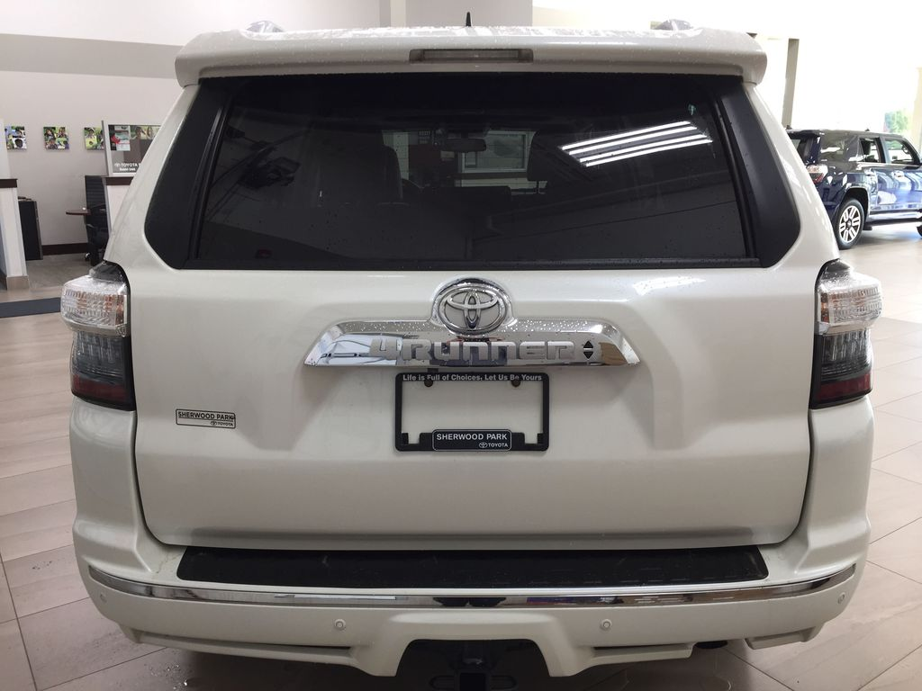 White[Blizzard Pearl] 2019 Toyota 4Runner Limited Rear of Vehicle Photo in Sherwood Park AB