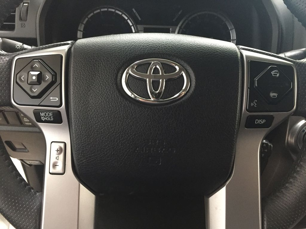 White[Blizzard Pearl] 2019 Toyota 4Runner Limited Steering Wheel and Dash Photo in Sherwood Park AB