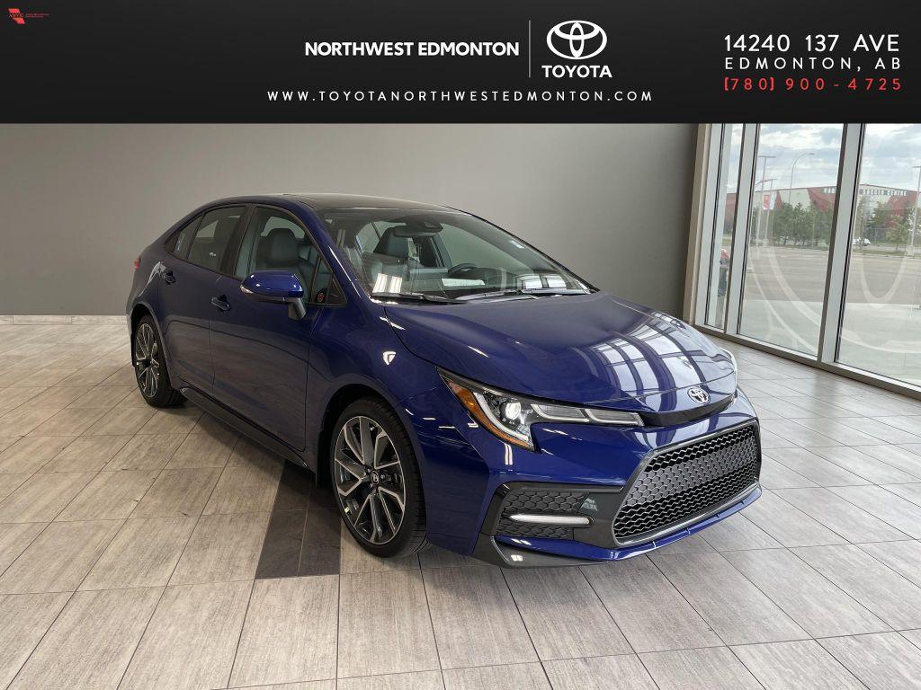 Blue Crush Metallic W/Black Roof 2022 Toyota Corolla XSE