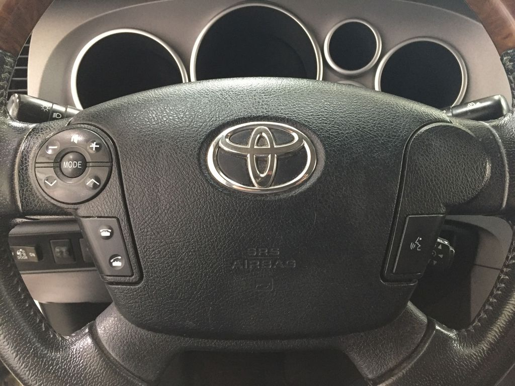 White[Alpine White] 2012 Toyota Tundra LIMITED CREWMAX 5.7L Steering Wheel and Dash Photo in Sherwood Park AB