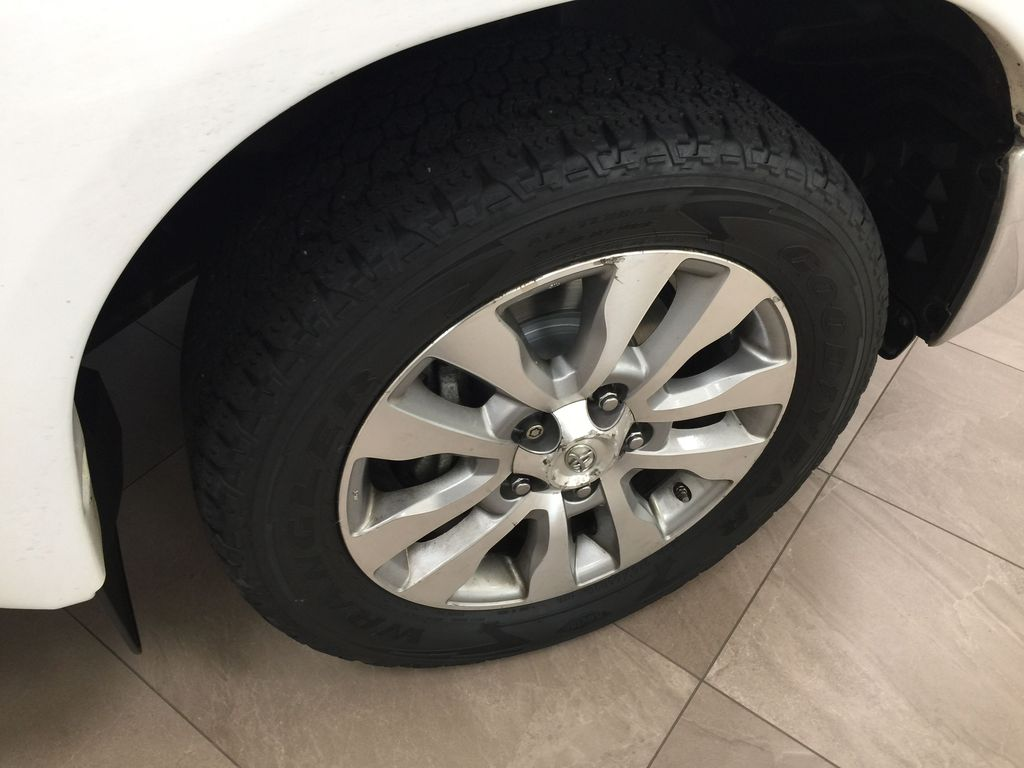 White[Alpine White] 2012 Toyota Tundra LIMITED CREWMAX 5.7L Right Front Rim and Tire Photo in Sherwood Park AB