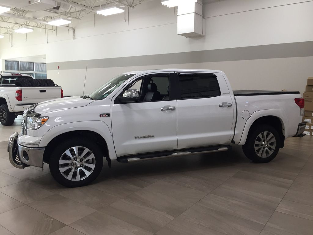 White[Alpine White] 2012 Toyota Tundra LIMITED CREWMAX 5.7L Left Side Photo in Sherwood Park AB