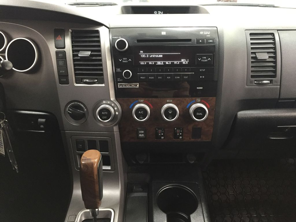 White[Alpine White] 2012 Toyota Tundra LIMITED CREWMAX 5.7L Central Dash Options Photo in Sherwood Park AB
