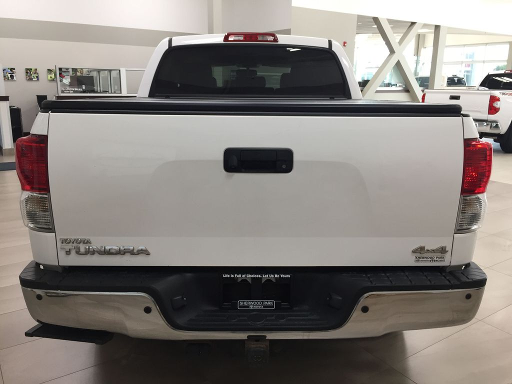 White[Alpine White] 2012 Toyota Tundra LIMITED CREWMAX 5.7L Rear of Vehicle Photo in Sherwood Park AB