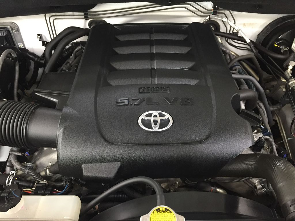 White[Alpine White] 2012 Toyota Tundra LIMITED CREWMAX 5.7L Engine Compartment Photo in Sherwood Park AB