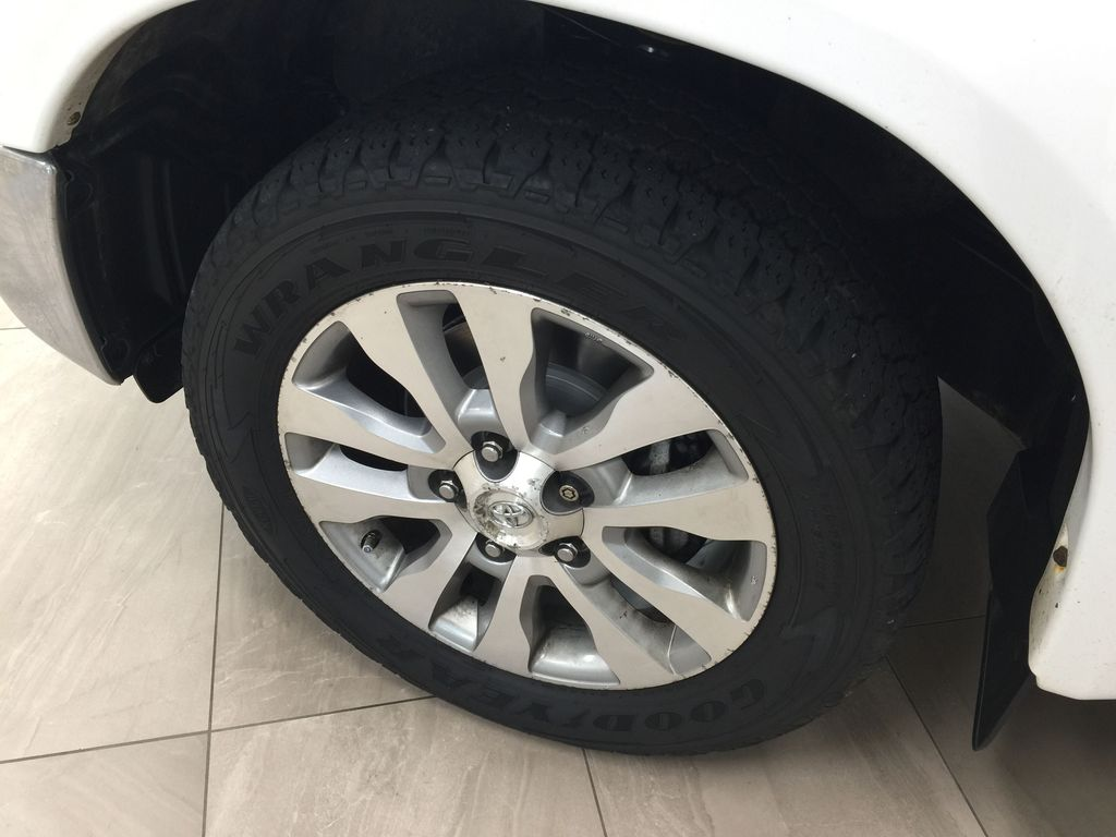White[Alpine White] 2012 Toyota Tundra LIMITED CREWMAX 5.7L Left Front Rim and Tire Photo in Sherwood Park AB
