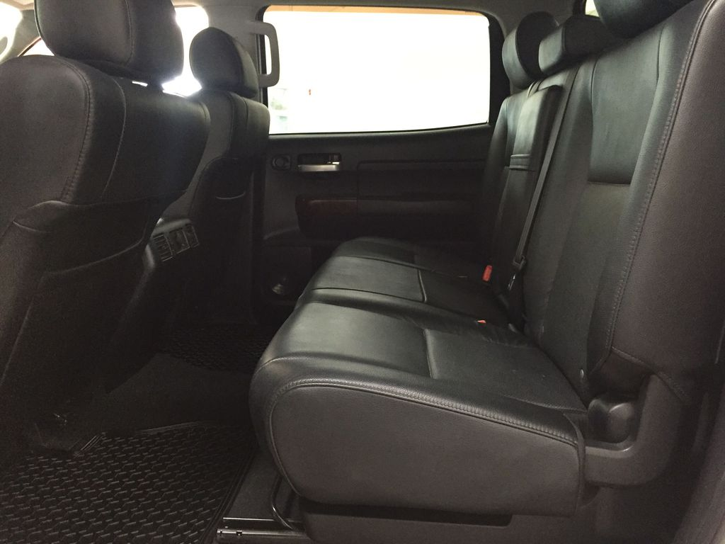 White[Alpine White] 2012 Toyota Tundra LIMITED CREWMAX 5.7L Left Side Rear Seat  Photo in Sherwood Park AB
