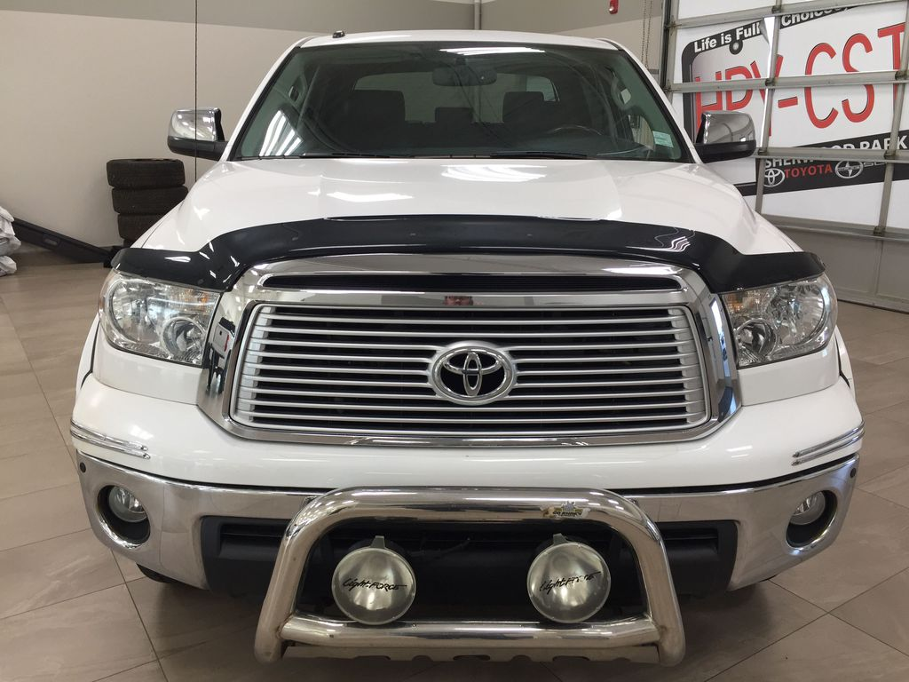 White[Alpine White] 2012 Toyota Tundra LIMITED CREWMAX 5.7L Front Vehicle Photo in Sherwood Park AB