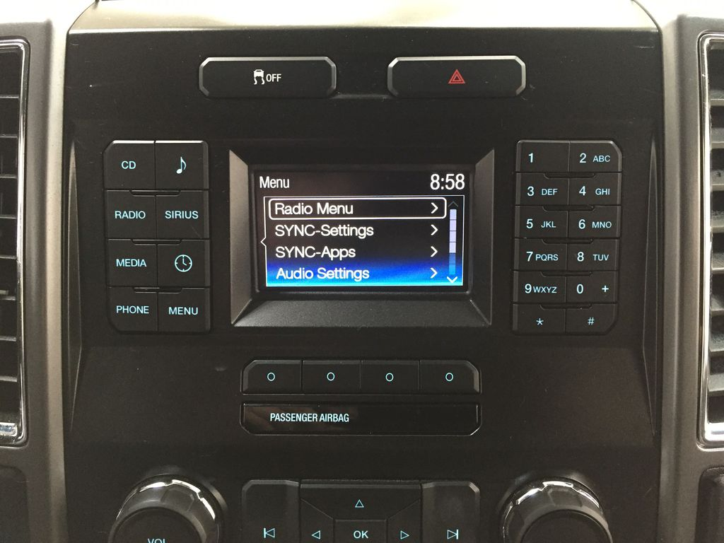 SILVER 2016 Ford F-150 XLT SUPERCREW Infotainment Closeup Photo in Sherwood Park AB