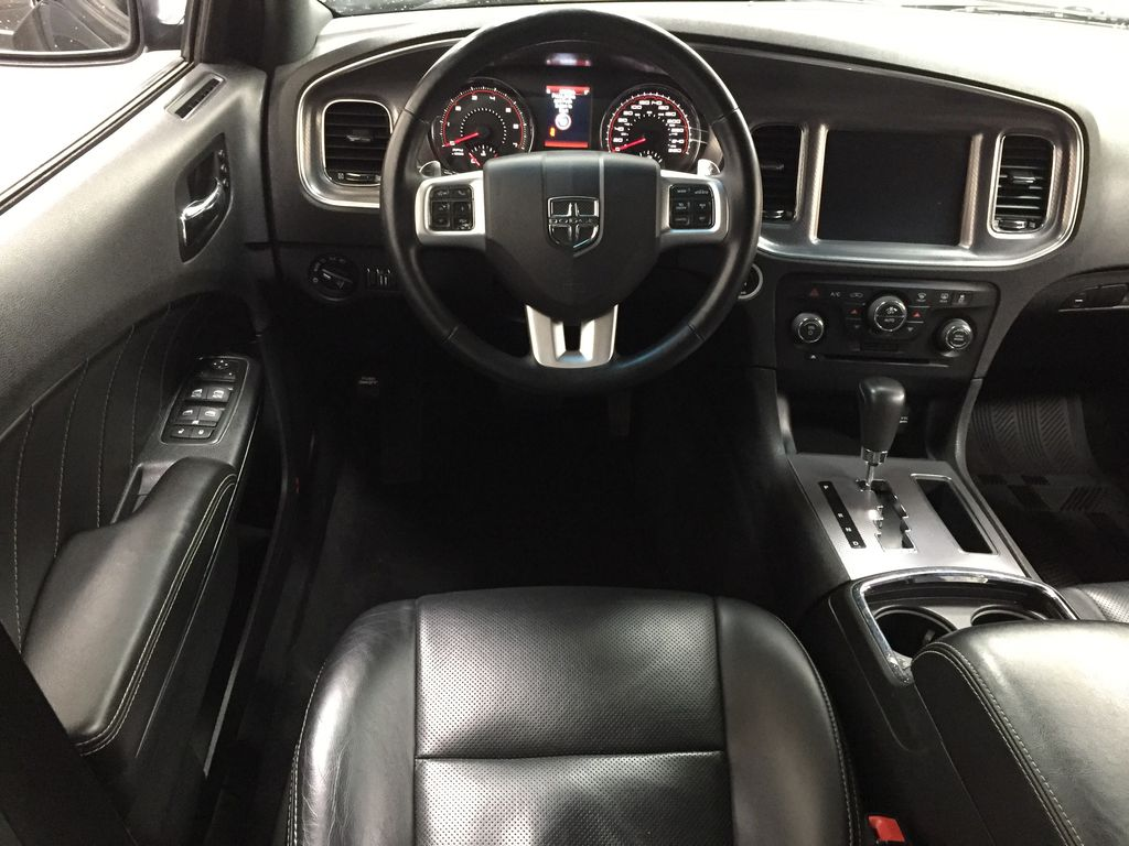 Black[Phantom Black Tri-Coat Pearl] 2014 Dodge Charger R/T LEATHER SUNROOF Left Front Seat Photo in Sherwood Park AB