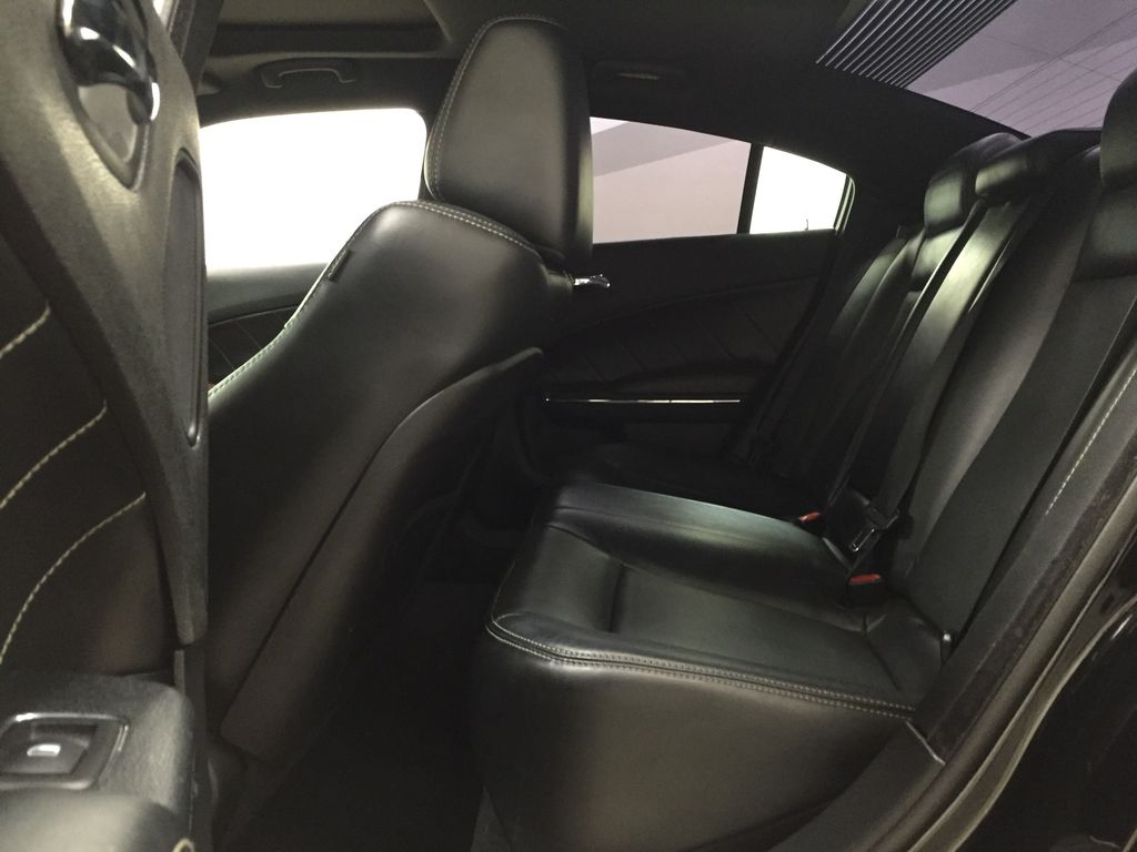 Black[Phantom Black Tri-Coat Pearl] 2014 Dodge Charger R/T LEATHER SUNROOF Left Side Rear Seat  Photo in Sherwood Park AB