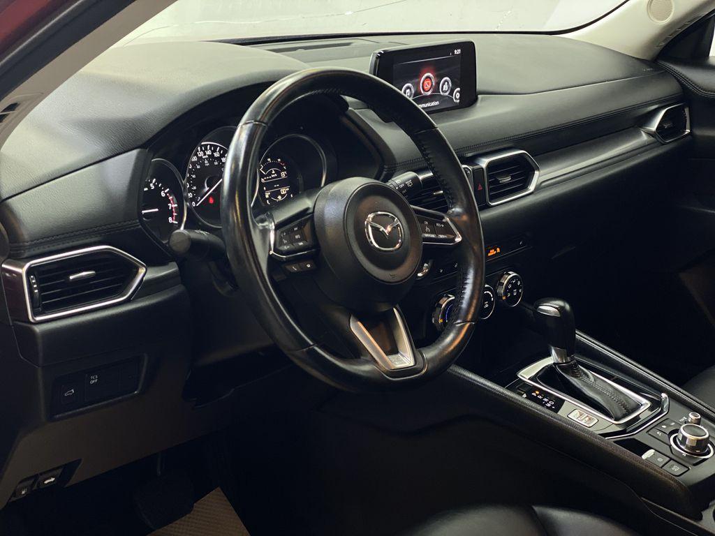 SOUL RED CRYSTAL METALLIC 2017 Mazda CX-5 GS AWD - Remote Start, Bluetooth, Backup Camera Steering Wheel and Dash Photo in Edmonton AB