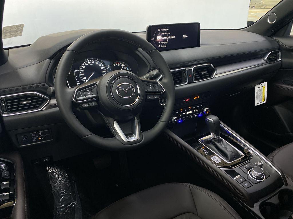SOUL RED CRYSTAL METALLIC(46V) 2021.5 Mazda CX-5 Signature AWD Steering Wheel and Dash Photo in Edmonton AB