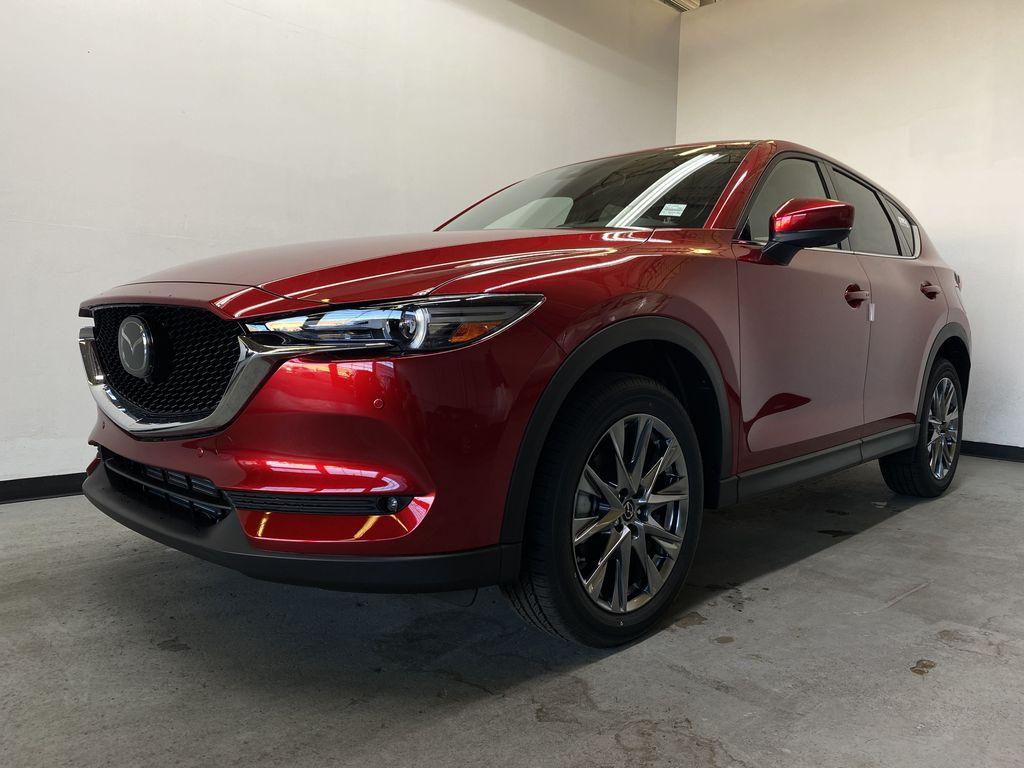 SOUL RED CRYSTAL METALLIC(46V) 2021.5 Mazda CX-5 Signature AWD Left Front Corner Photo in Edmonton AB