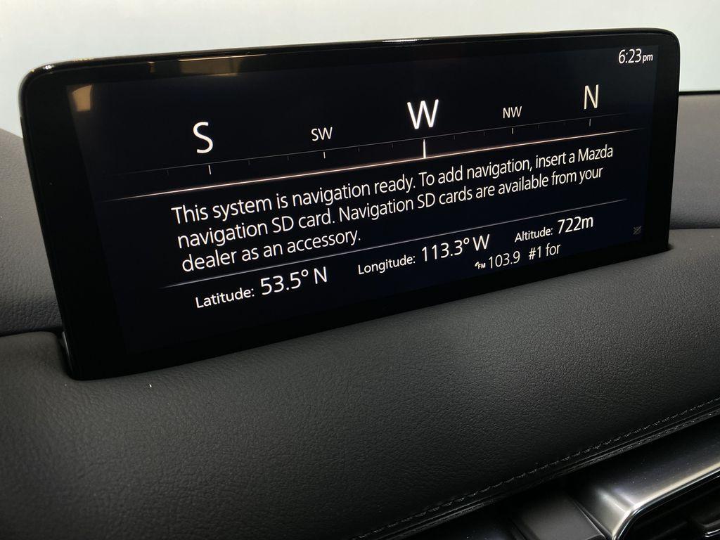 SOUL RED CRYSTAL METALLIC(46V) 2021.5 Mazda CX-5 Signature AWD Navigation Screen Closeup Photo in Edmonton AB