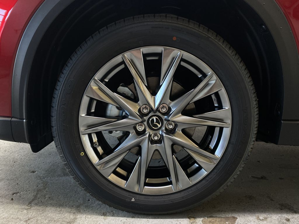 SOUL RED CRYSTAL METALLIC(46V) 2021.5 Mazda CX-5 Signature AWD Left Front Rim and Tire Photo in Edmonton AB