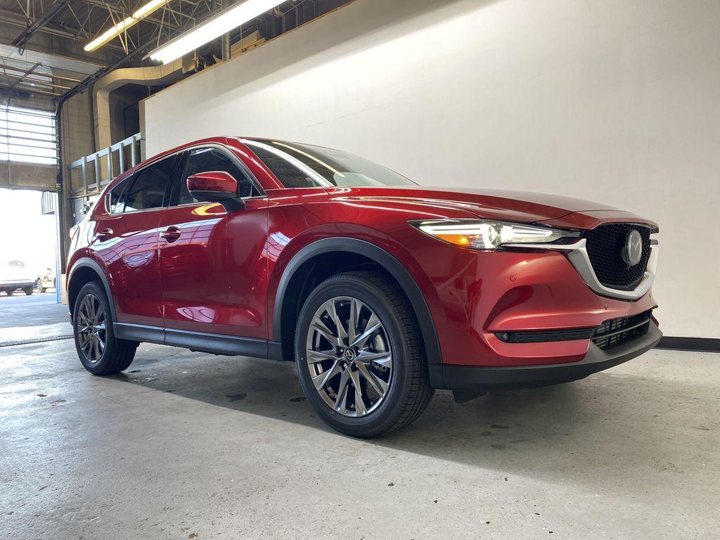 SOUL RED CRYSTAL METALLIC(46V) 2021.5 Mazda CX-5 Signature AWD Right Front Corner Photo in Edmonton AB