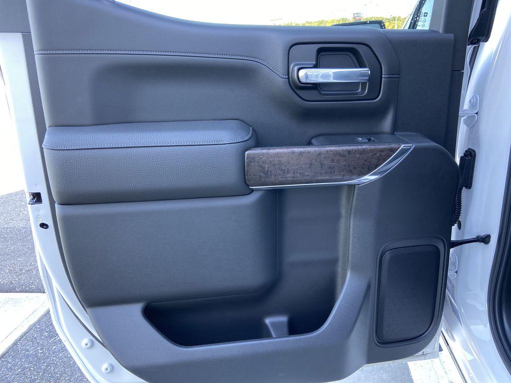 White[White Frost Tricoat] 2021 GMC Sierra 1500 Denali Left Rear Interior Door Panel Photo in Calgary AB