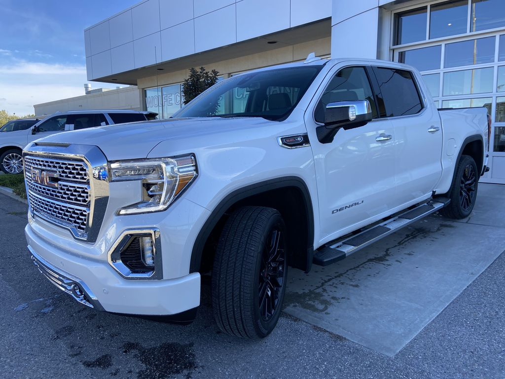 White[White Frost Tricoat] 2021 GMC Sierra 1500 Denali Left Front Head Light / Bumper and Grill in Calgary AB