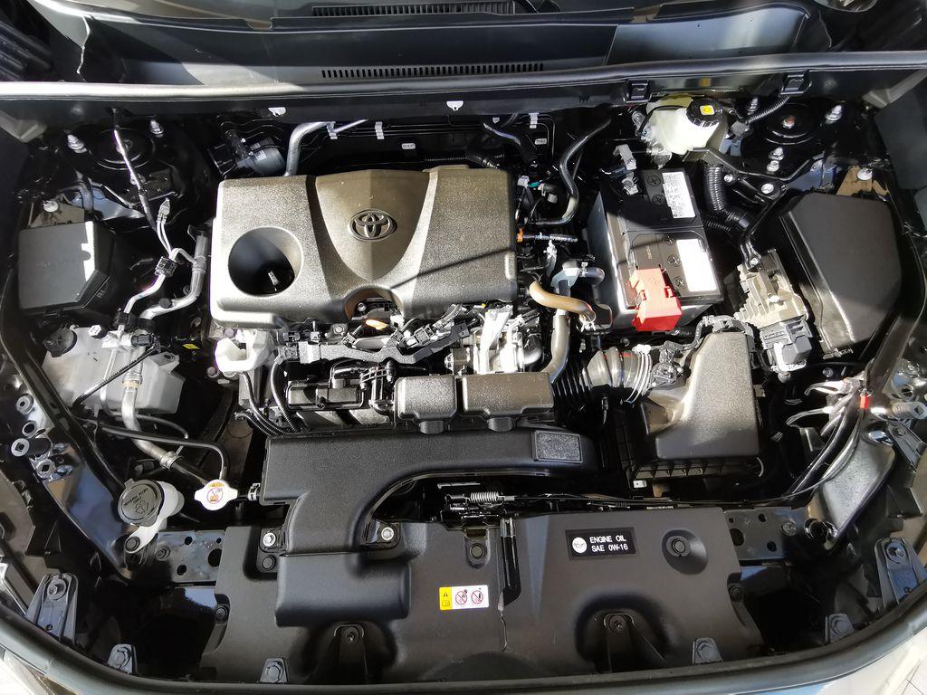 Black[Midnight Black Metallic] 2021 Toyota RAV4 Engine Compartment Photo in Edmonton AB