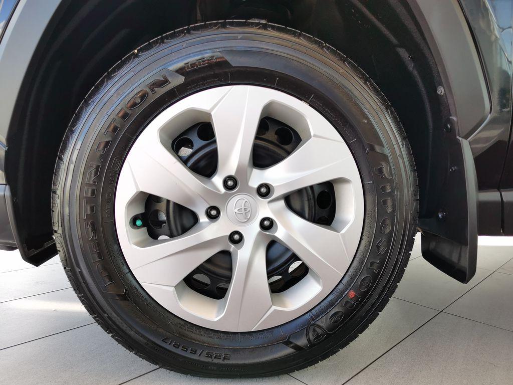 Black[Midnight Black Metallic] 2021 Toyota RAV4 Left Front Rim and Tire Photo in Edmonton AB