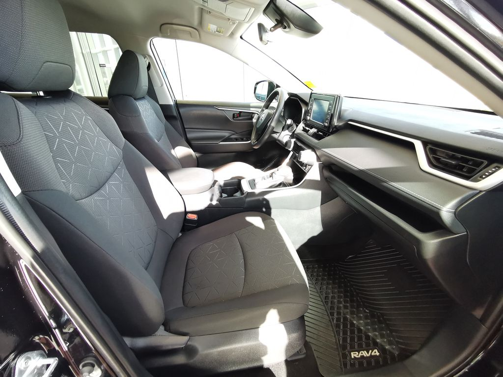 Black[Midnight Black Metallic] 2021 Toyota RAV4 Right Side Front Seat  Photo in Edmonton AB